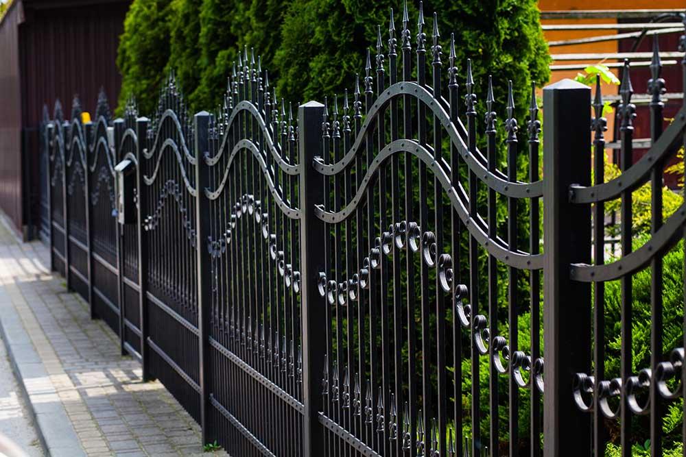Electrostatic Coating on Fence & Railings
